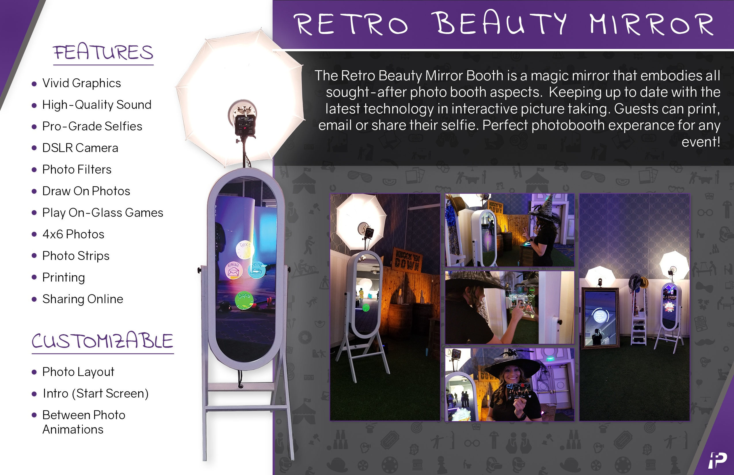 Mirror Me Retro Beauty: Selfie Booth - Fun Planners